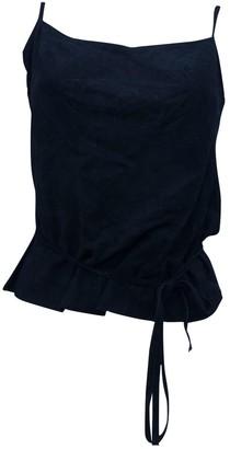 Plein Sud Jeans Black Suede Top for Women