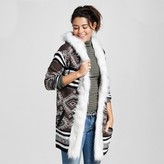 Love @ First Sight Women's Reverse Knit Fur Cardigan - Love @ First Sight (Juniors')