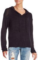 Vintage Havana Hi-Lo Hooded Sweater
