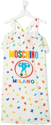 MOSCHINO BAMBINO TEEN letter print logo dress