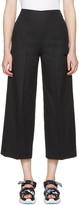 MSGM Black Wide-leg Trousers