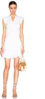 Veronica Beard Fountain Ruched Poplin Circle Skirt Dress