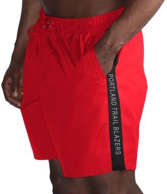 Trunks G Iii Men's G-III Sports by Carl Banks Red/Black Portland Trail Blazers Volley Swim