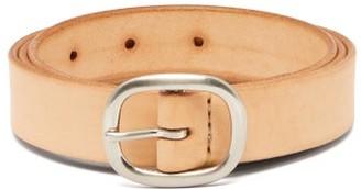 BEIGE Maximum Henry - Patinated-leather Belt - Mens