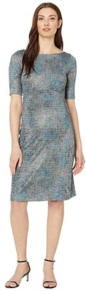 Tiffany Rose Anna Maternity Shift Dress (Bronze Blue) Women's Dress