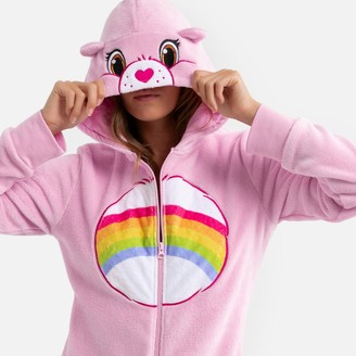 Les Bisounours Ultra Soft Care Bear Onesie with Hood and Rainbow