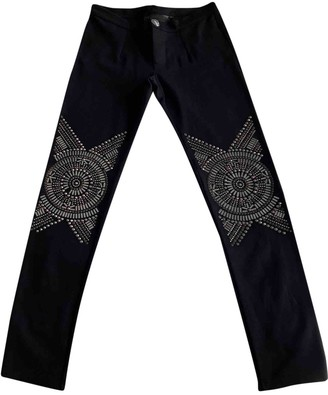 Philipp Plein Black Cloth Trousers for Women