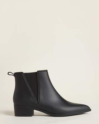 Jeffrey Campbell Black Mist Ankle Rain Boots