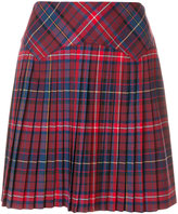 Tommy Hilfiger checked pleated mini skirt