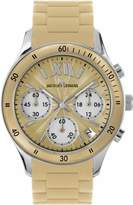 Jacques Lemans Unisex Rome Sports Wrist Watch with Beige Silicone Strap