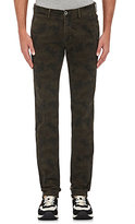 Mason Men's Camouflage Stretch-Cotton Slim Trousers-GREEN
