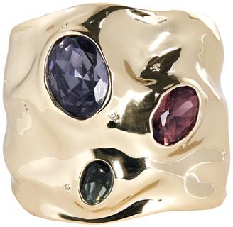 Alexis Bittar Triple Stone Crumpled Cuff Bracelet