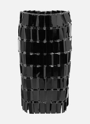 Paco Rabanne Glossed-plastic Midi Skirt - Black