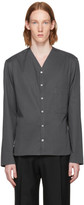 Lemaire Grey V-neck Collar Shirt
