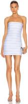 Alexander Wang Logo Elastic Bandeau Dress in White | FWRD