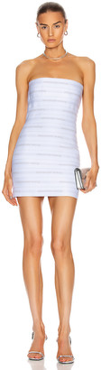 Alexander Wang Logo Elastic Bandeau Dress in White | FWRD