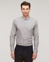 Fine Stripe Round Collar Shirt