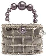 Rosantica Holli Crystal-embellished Cage Clutch - Womens - Dark Grey