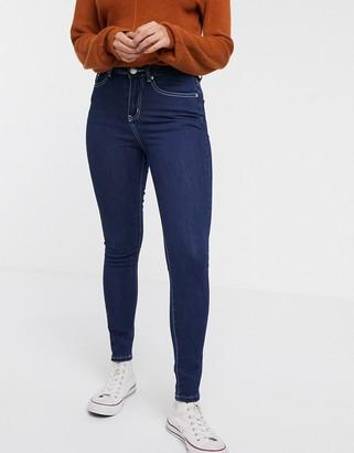 Glamorous skinny ankle grazer jeans in blue indigo