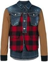 DSQUARED2 denim Buffalo Check jacket