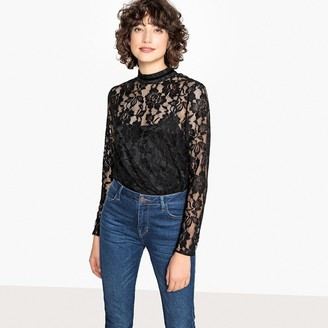 Laced High Neck Blouse