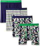 Trimfit Big Boys' 100 Percent Cotton Tagless Assorted Boxer Briefs 4-Pack (Football Stars: Navy/Orange/Yellow /White, XL)
