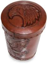 Novica American Patriot' Leather Cup and dice Set