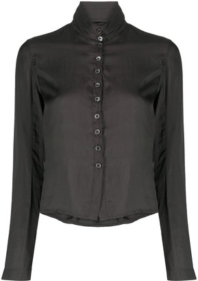 Ann Demeulemeester High-Neck Buttoned Shirt