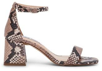 Steve Madden Maris Textured Snake-Print Ankle-Strap Sandals