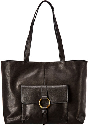 Frye Madison Front Pocket Leather Tote