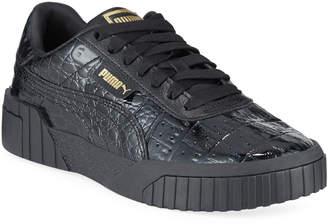 Puma Cali Croc-Embossed Patent Sneakers