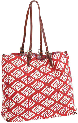 Dakota rockflowerpaper Women's Handbags - Red & White Geometric Tote