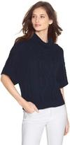 White House Black Market Short Sleeve Cowl Neck Sweater