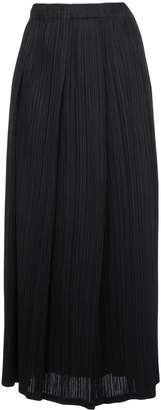 Pleats Please Issey Miyake Inverted-Pleats Midi Skirt