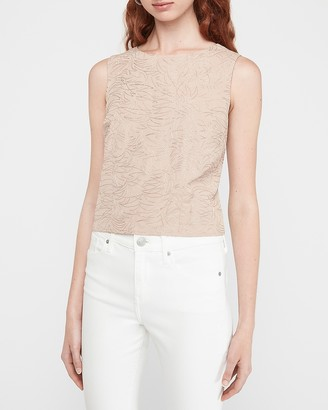 Express Embellished Button Back Tank