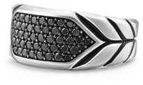 David Yurman Chevron Signet Ring With Black Diamonds