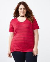 Penningtons Curve Fit Printed T-Shirt