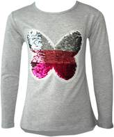 Generic KIDS GIRLS CHANGING SEQUIN SIZES HEART BUTTERFLY TOPS BRUSH LOVE 3-14 YEARS
