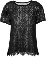 Twin-Set lace T-shirt - women - Cotton - XS
