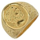 Torrini Socrates - Engraved Oval Yellow Gold Men's Ring