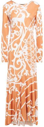 Adriana Degreas Asymmetric Printed Jersey Maxi Dress