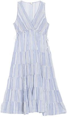 Max Studio Tiered Stripe Midi Dress