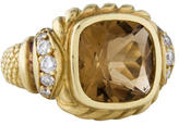 Judith Ripka Smoky Quartz & Diamond Ring