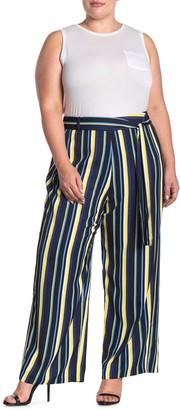 Maree Pour Toi Spring Stripe Waist Tie Pants (Regular & Plus Size)