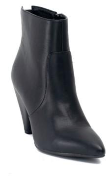 GC Shoes Dion Cone Heeled Back Zipper Bootie Women's Shoes