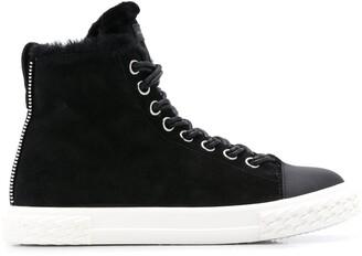 Giuseppe Zanotti faux fur trim sneakers