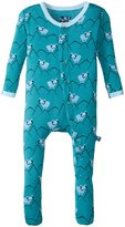 Kickee Pants Print Footie (Baby) - Bay Mountain Goat - 6-12 Months