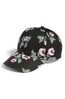 Amici Accessories Women's Floral Print Ball Cap - Black