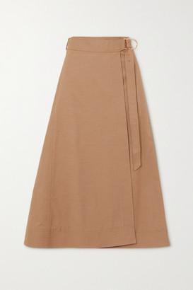 Gabriela Hearst Linda Cotton-drill Wrap Skirt - Camel