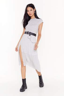 Nasty Gal Womens Ditsy Spot Midi Dress - White - 6, White